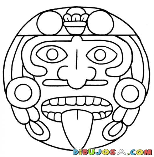 Mandalas Para Colorear Estela Maya Geroglifico Y Cara De Los Mayas Y ...