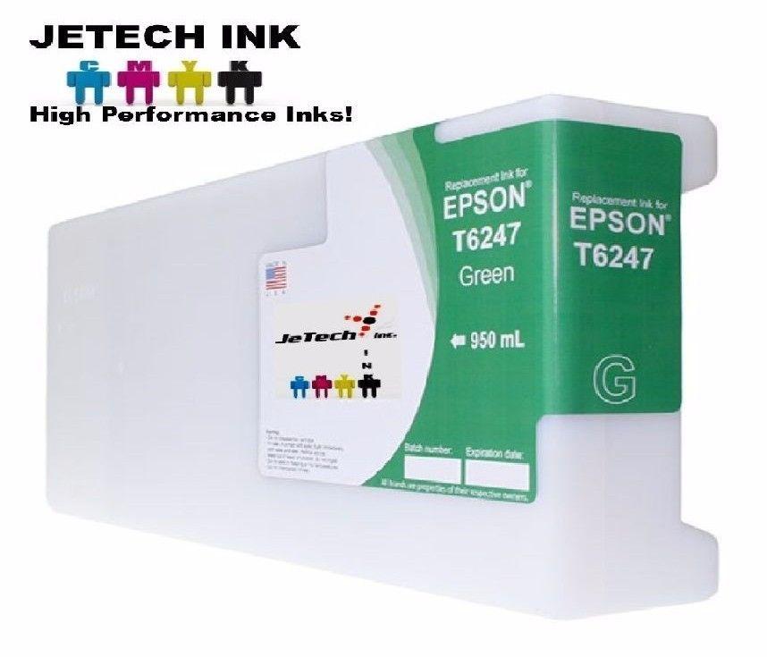 Epson UltraChrome GS Compatible 950ml Single Cartridge (T624700) - Green #JeTechInk