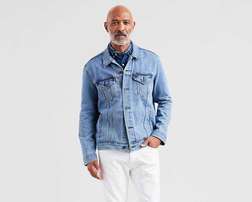 Trucker Jacket Light Wash Levi S Us Jackets Mens Casual Jeans