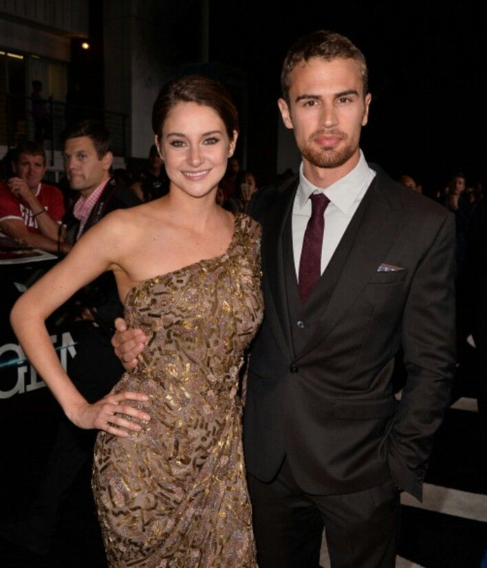 Shailene Woodley and Theo James at the Divergent premiere