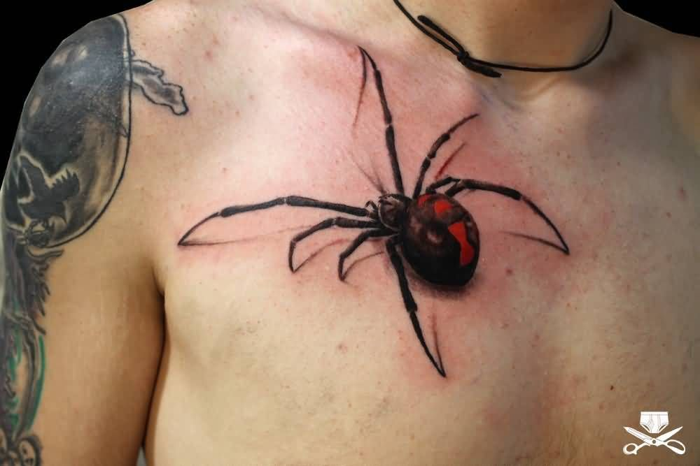 25 Realistic Collection Of 3d Black Widow Tattoos Golfian Com Black Widow Tattoo Spider Tattoo Black Widow