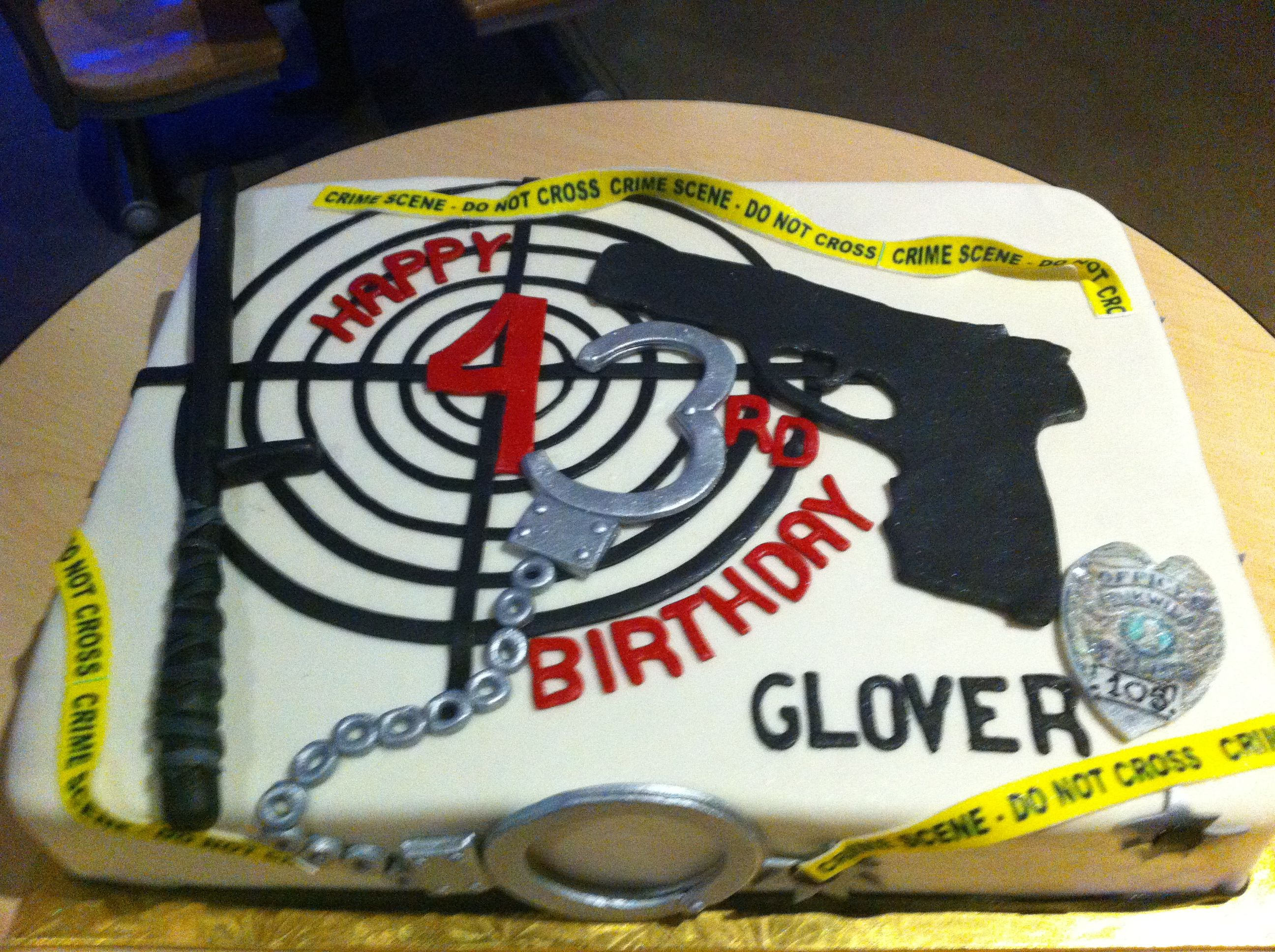 Police Officer Birthday Cake Themed Cakes Parties 21st Ideas