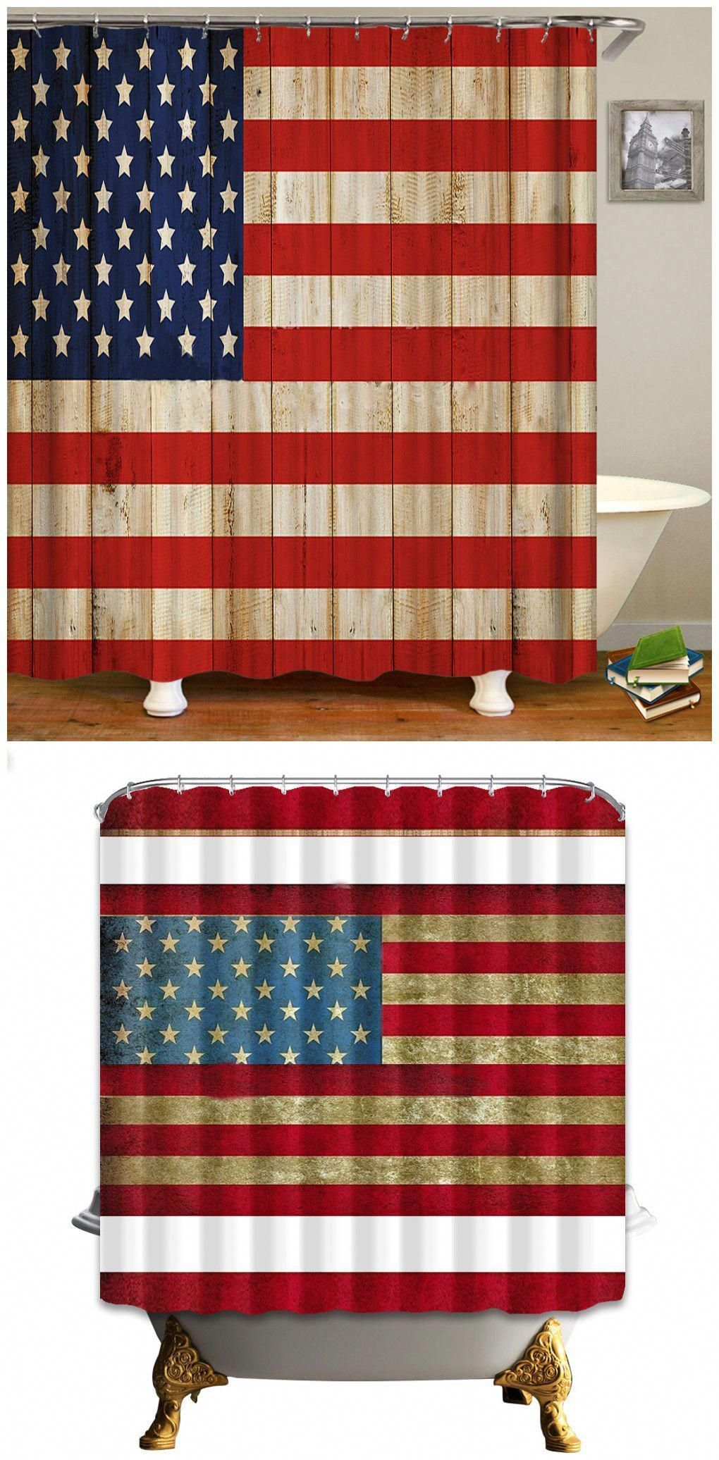 Africa Afro Girl Girl Shower Curtain American Flag Star Flag