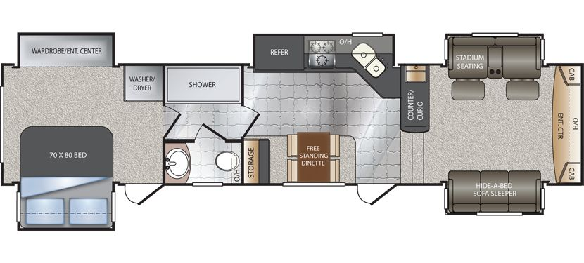 Image Result For Travel Trailer With Living Room In Front Glamorous Fifth Wheel Campers With Front Living Rooms Decorating Design