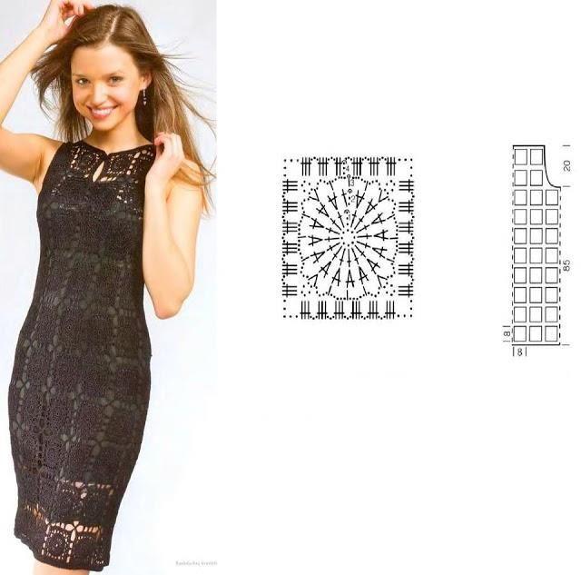 Solo esquemas y diseños de crochet: vestidos | tejiendo ...