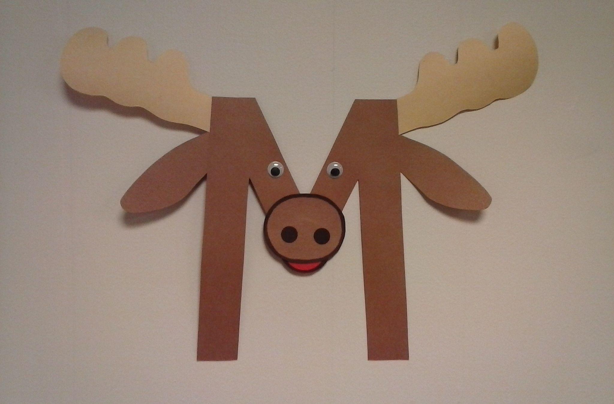 Preschool Letter M M Is For Moose