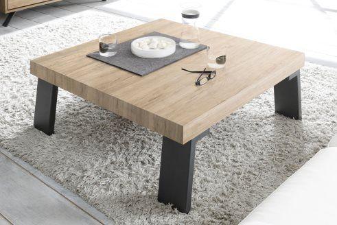 Table Basse Catania Imitation Chene Clair Salon Table Basse Bois