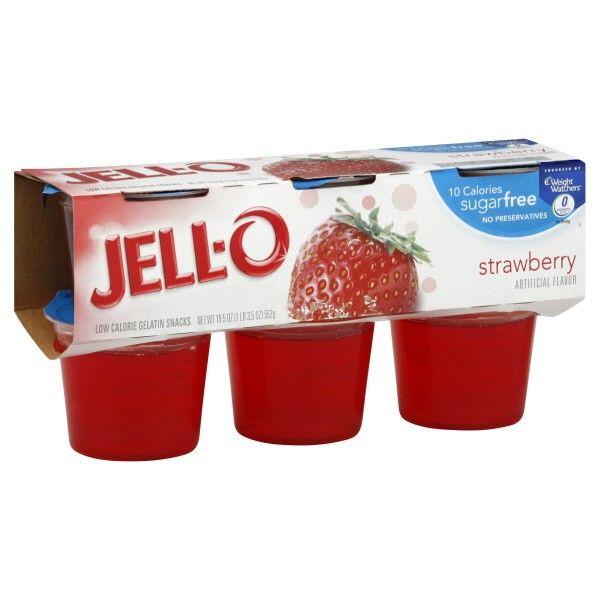 Jell O Gelatin Cups Sugar Free Strawberry 6 Ct Sugar Free Jello Jell O Sugar Free