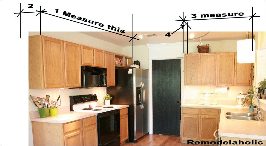 measuring for crown molding copy | Kitchen cabinets ...