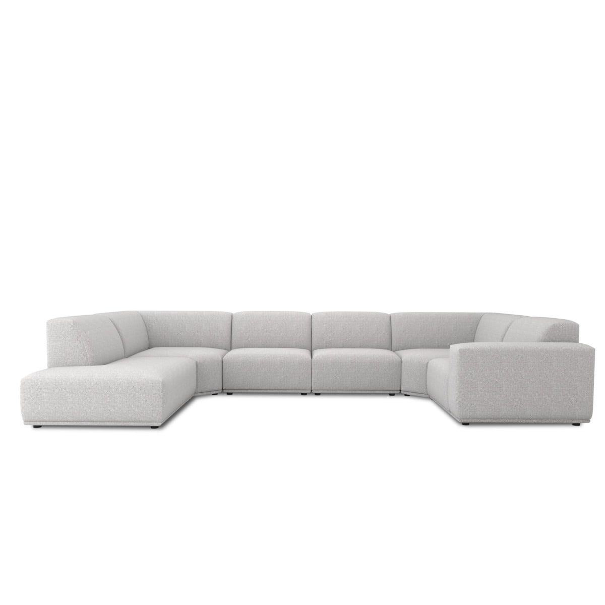 Todd U Shape Sectional Sofa With Chaise Left Hand Facing Light Grey U Shaped Sectional Sofa Sectional Sofa With Chaise U Shaped Sectional