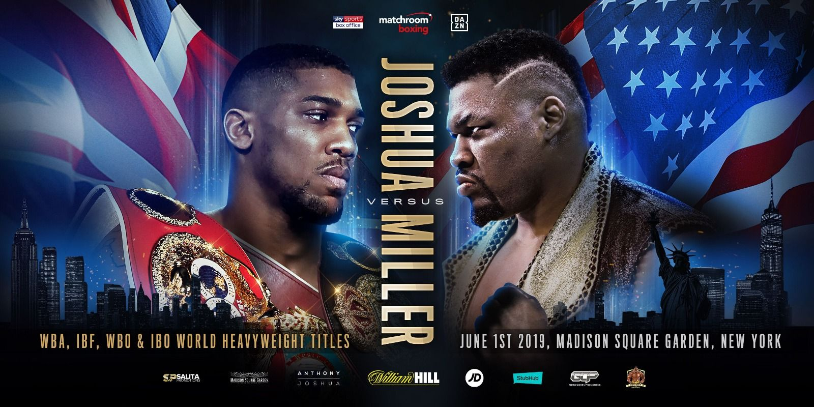 ANTHONY JOSHUA TO FACE JARRELL MILLER IN U.S. DEBUT AT MSG
