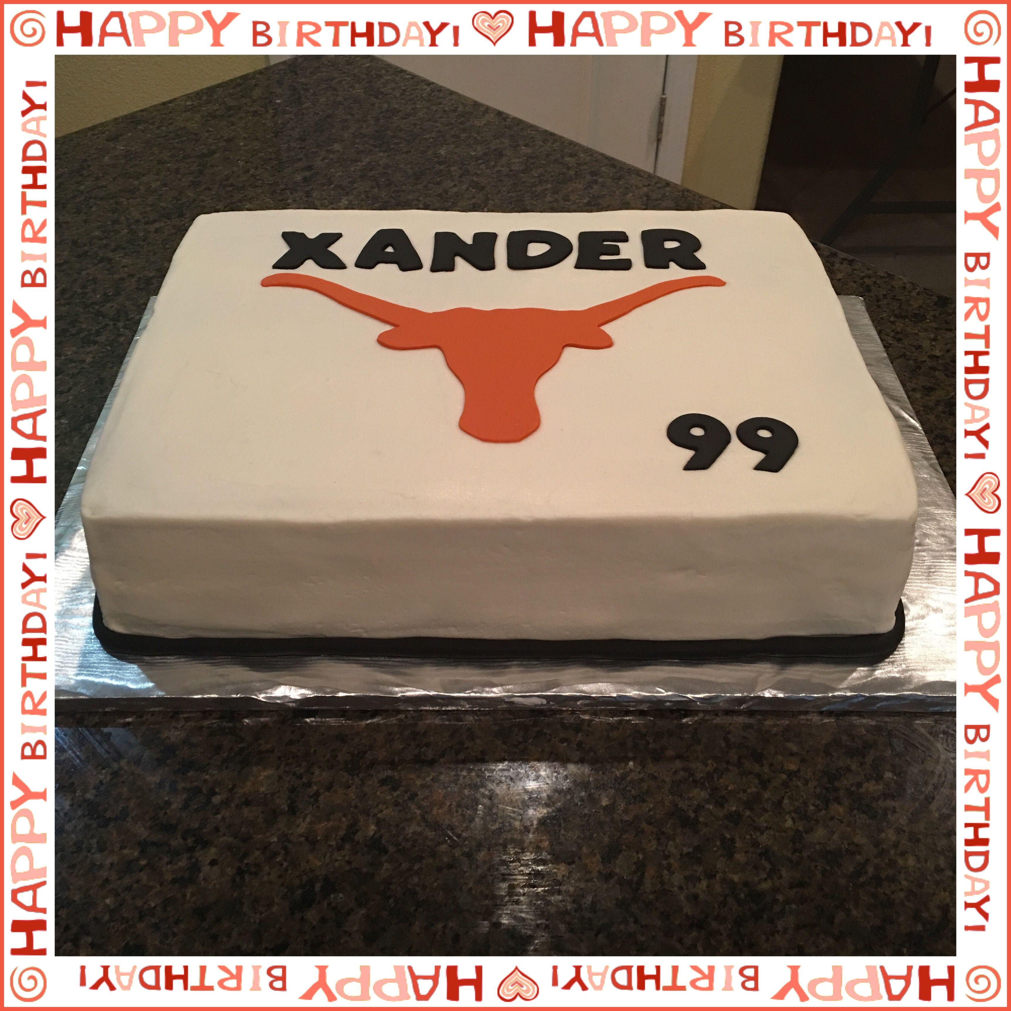 Texas Longhorns Birthday Cake