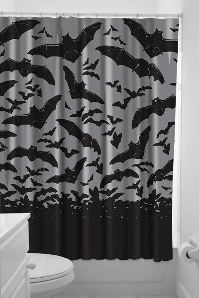 Spooksville Bats Shower Curtains By Sourpuss Gothic Home Decor