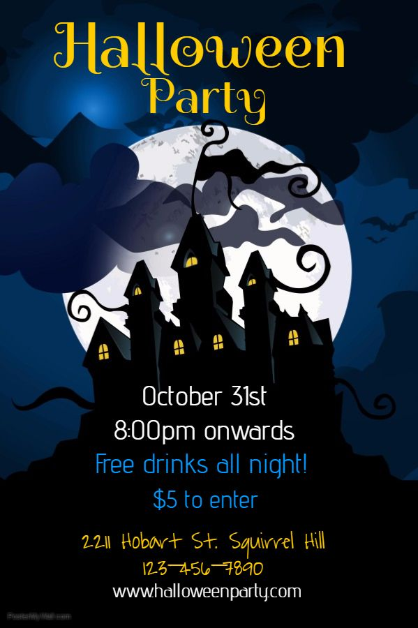halloween party flyer social media post template halloween party