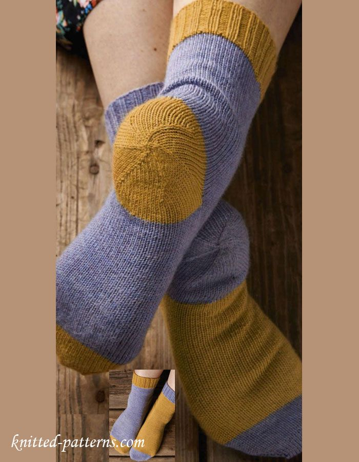 Afterthought heel knitting socks. This looks like a good free ...