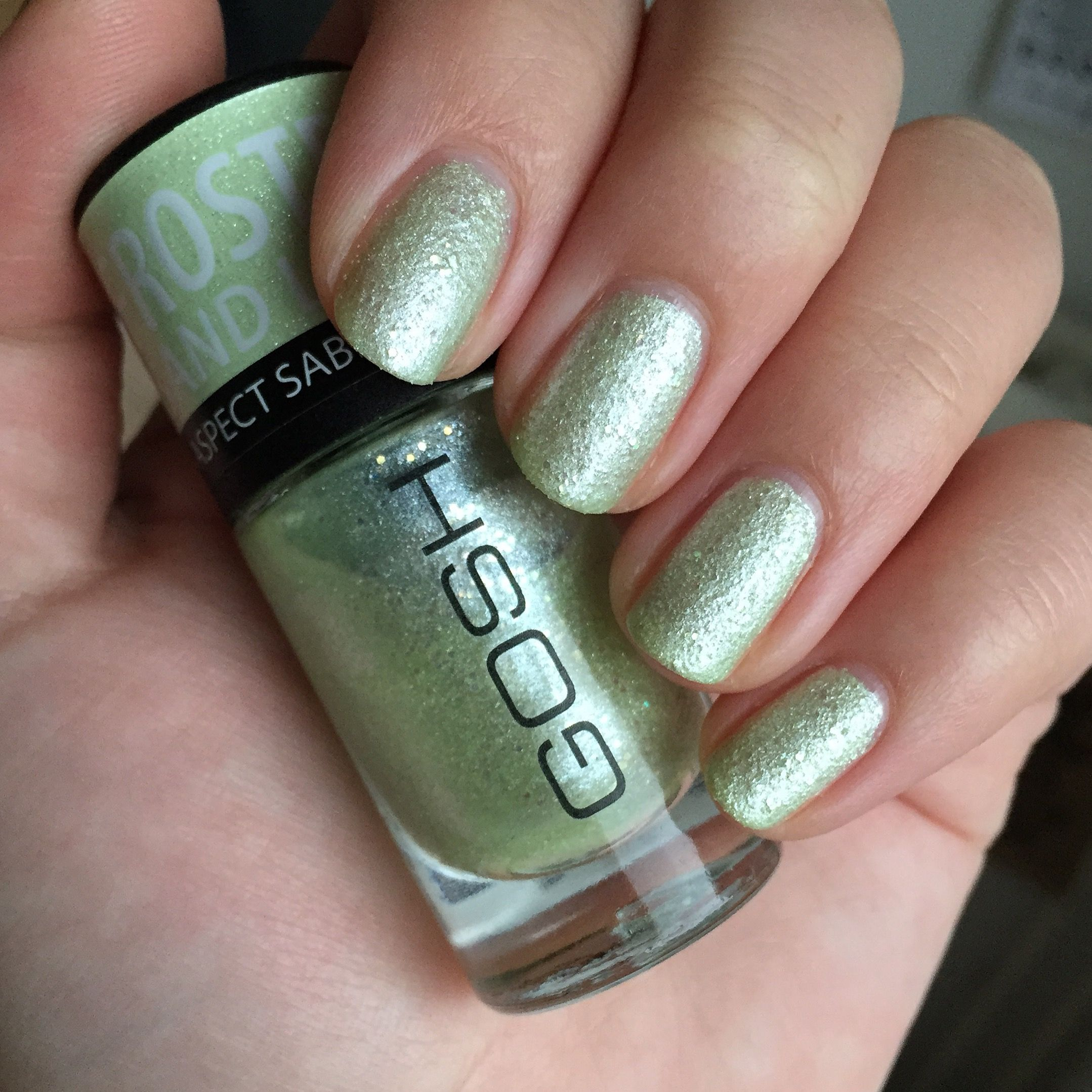 Gosh Frosted Nail Lacquer - Frosted Soft Green (09) | Swatches ...