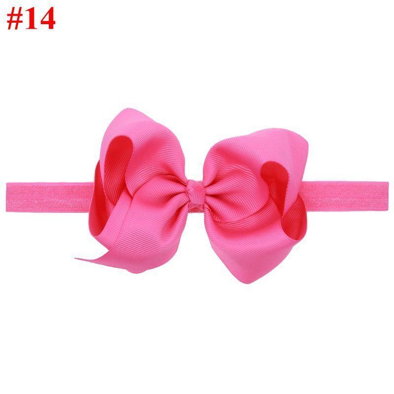 c1b144c1716cc 16 colors Baby Girls Big Bow Headband Infant Bebe Hair Accessories Elastic  Hair Bands Bow Small