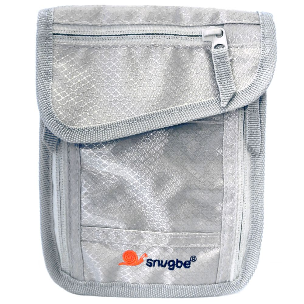 Snugbe Neck Travel Wallet With A Transparent Pvc Pocket For