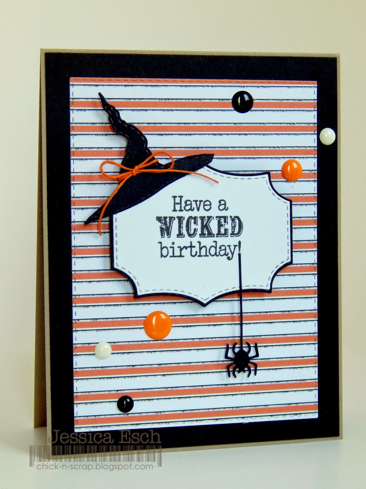 MCT 36th New Release Blog Hop Halloween Birthday Card Stitched