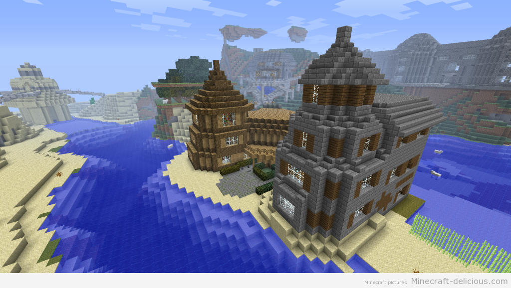 Minecraft Stone House Minecraft Houses Minecraft Brick