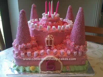 homemade pink castle birthday cake i made this pink castle birthday cake for a friends