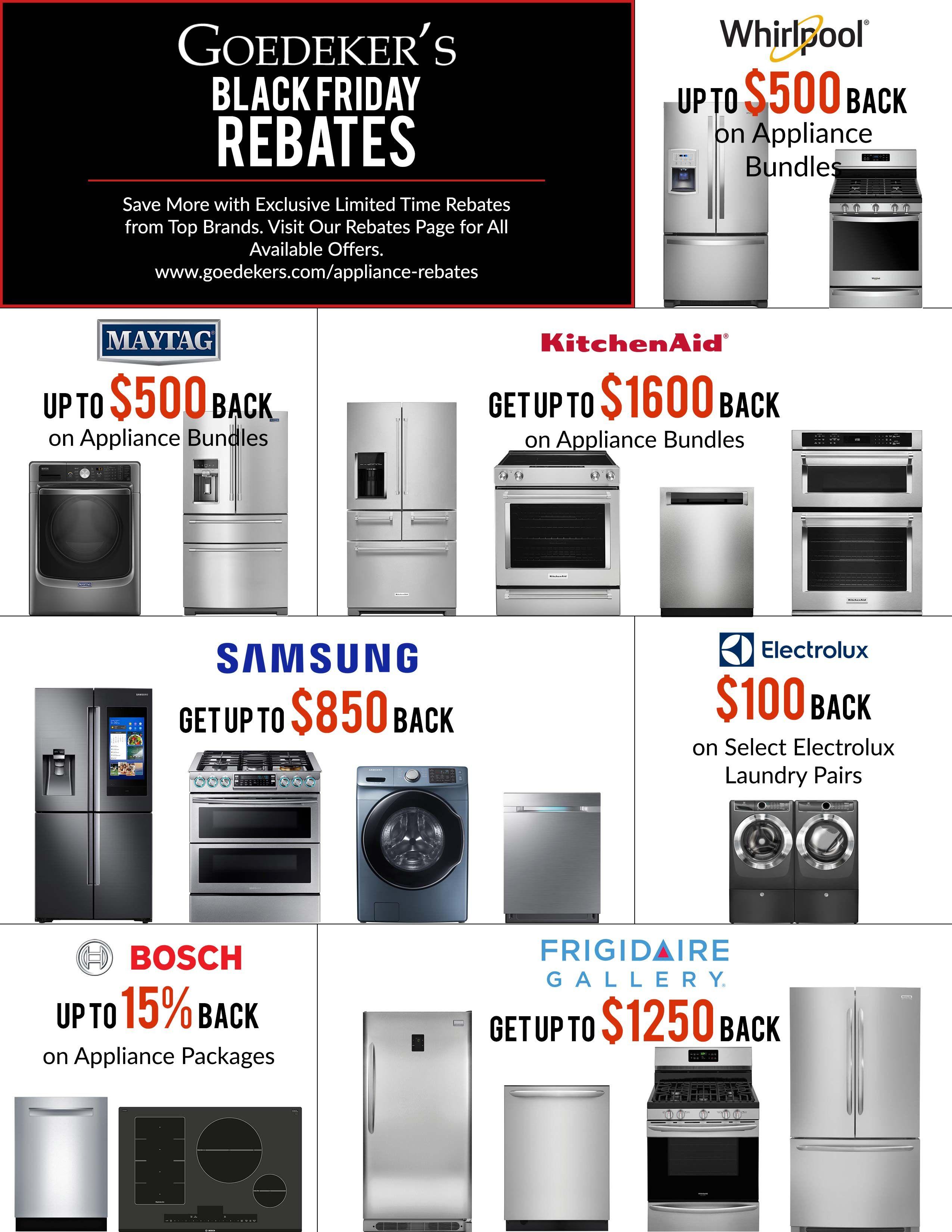 Black Friday Rebates Rebates Appliance Bundles How To Get Money