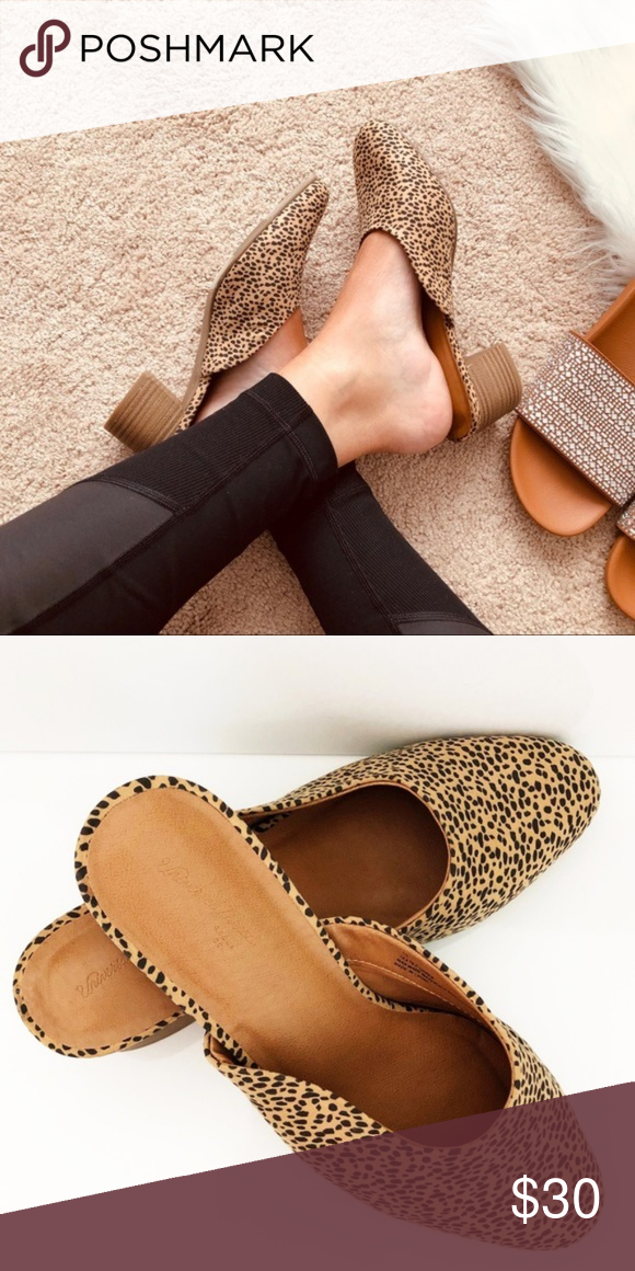 Cheetah Print Loafers Mules Shoes Sandals Wedges
