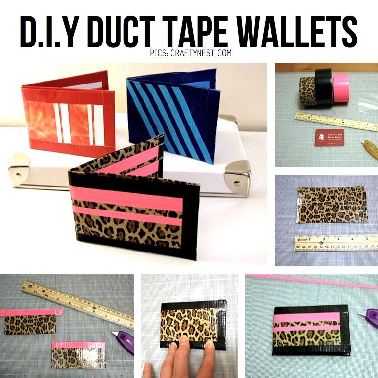 Diy Duct Tape Crafts I Want To Try To Make A Card Holder For The