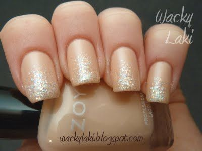 This is a fun way to wear nude polish.