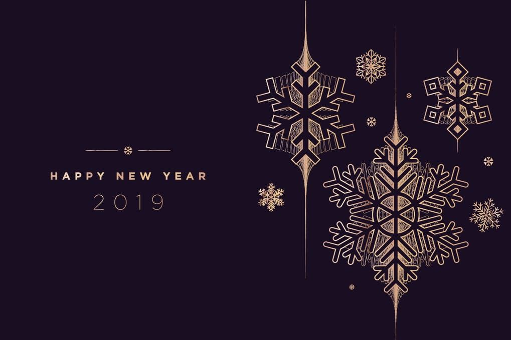 New Year Greeting Card By Puresolution On Envato Elements Greeting Card Template Card Patterns New Year Greetings