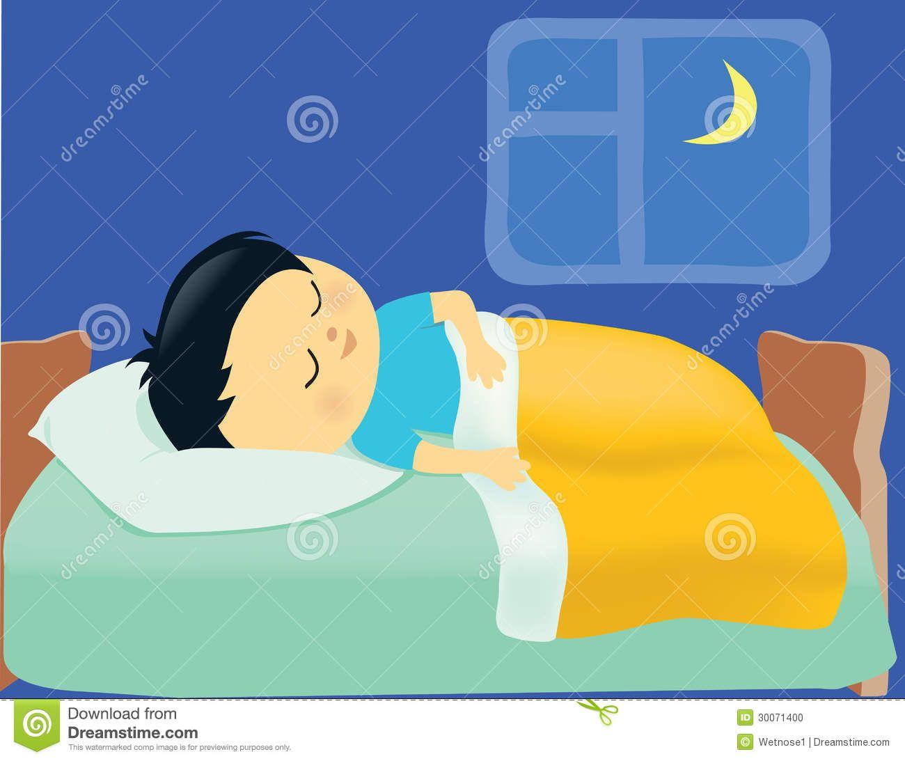 Kid Sleeping In Bed Cartoon In 2020 Kids Sleep Sleeping Boy