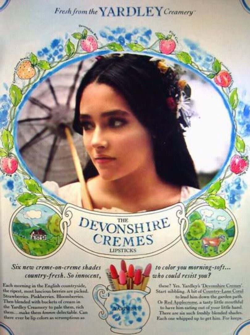 Famous People That Start With D in another ad with actress olivia hussey | respiration of le visage
