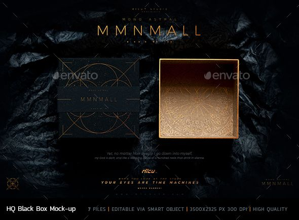 Download MMNMLL Black Box #Mockup - #Packaging Product Mock-Ups ...