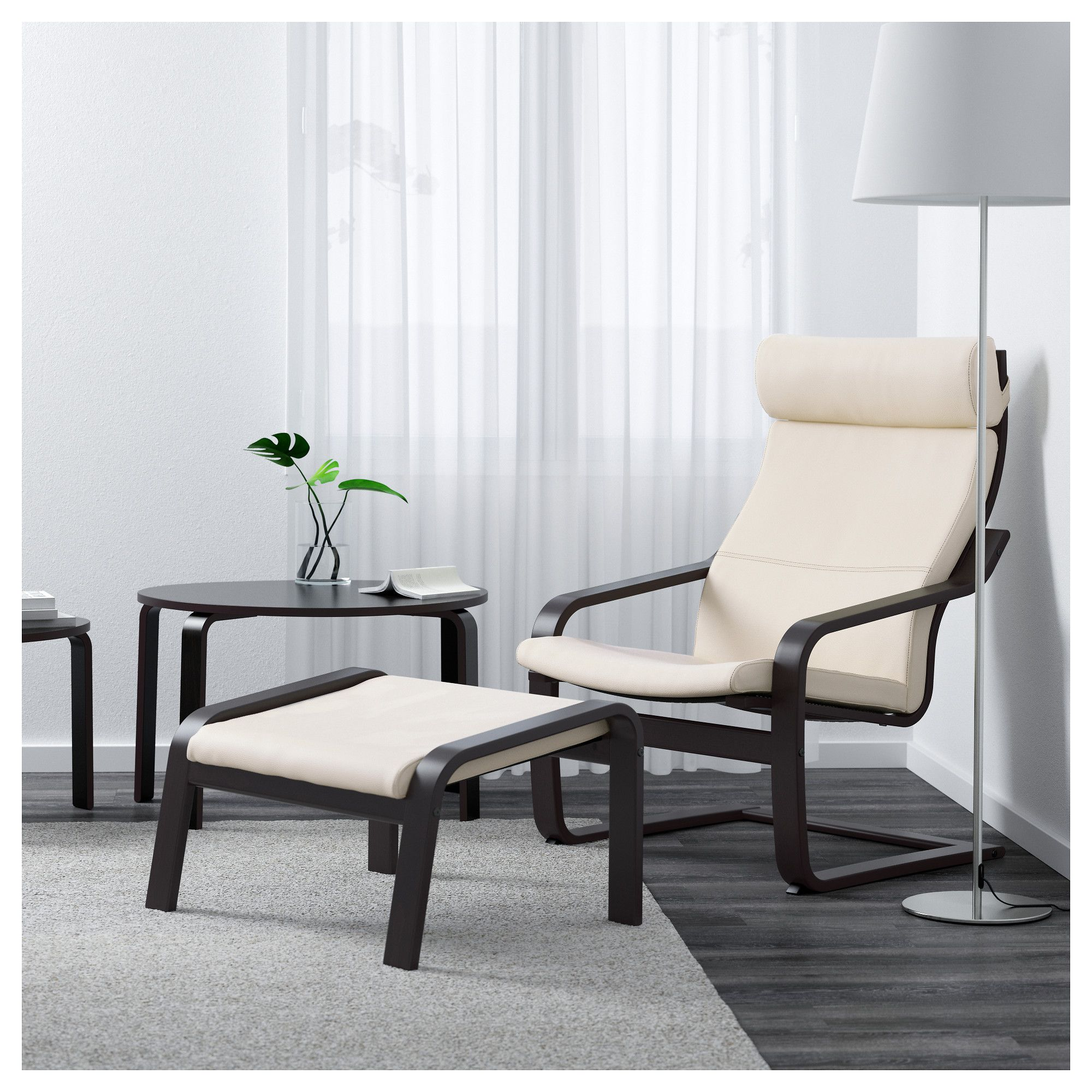Marvelous Ikea Poang Armchair Black Brown Glose Robust Off White Ocoug Best Dining Table And Chair Ideas Images Ocougorg