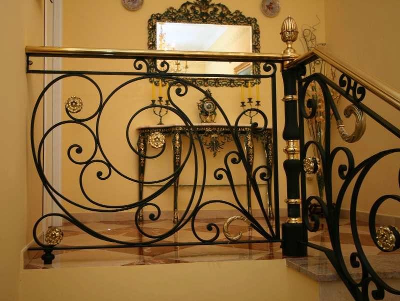 Barandal herreria hierro forjado escalera de hierro y - Escaleras de hierro forjado ...