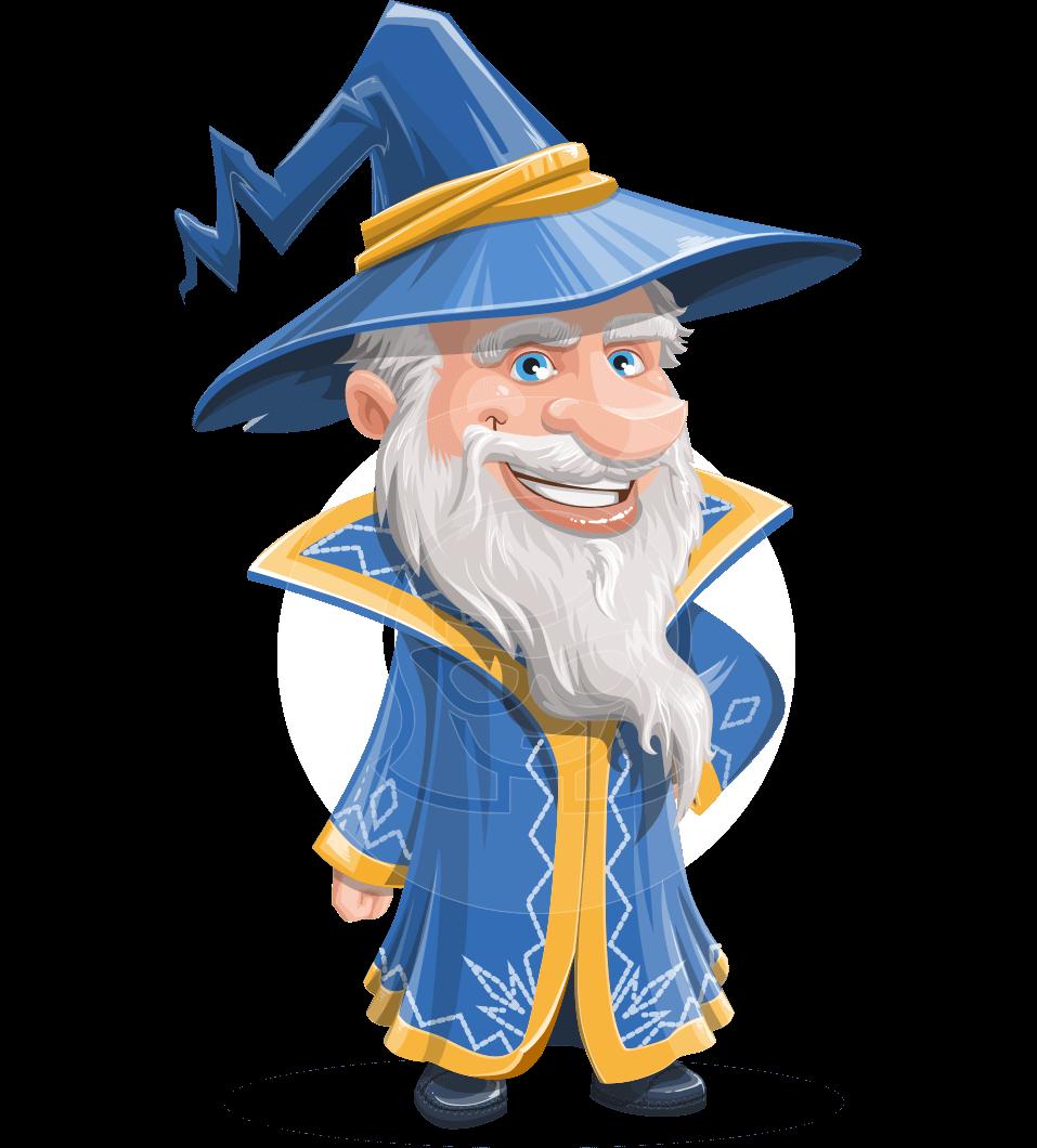Wizard With A Hat Cartoon Vector Character Aka Waldo Graphicmama Cartoons Vector Animated Characters Cartoon