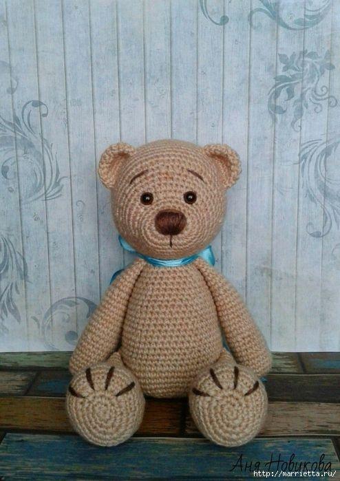 Медведь крючком схема и описание