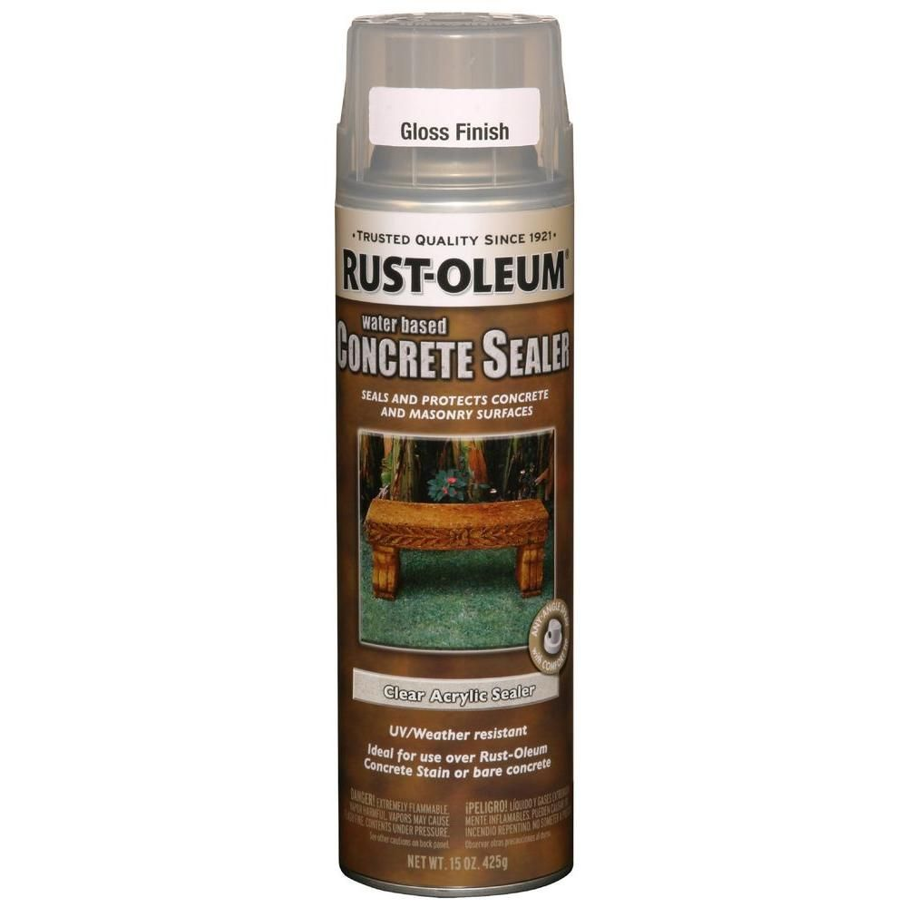 RustOleum Concrete Stain 15 oz. WaterBased Clear Gloss