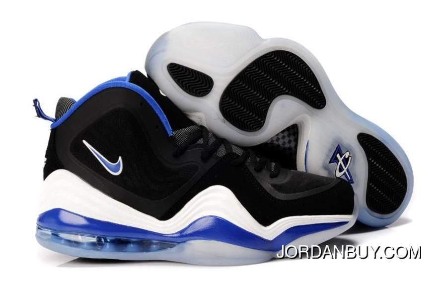 Buy Real Discout Nike Air Penny Hardaway Mens Shoes Black White Blue Shoes  Now from Reliable Real Discout Nike Air Penny Hardaway Mens Shoes Black  White ...