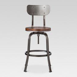 Set Of 2 30 5 Bryson Bar Stool Natural Black Carolina Chair