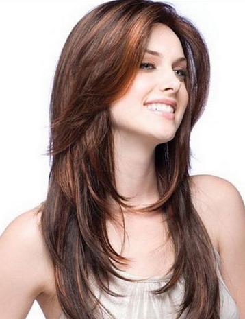 Model Rambut Panjang Lurus 2015 : model, rambut, panjang, lurus, Miring, Dengan, Layer, Bagian, Samping, Wajah, Penelusuran, Google, Rambut, Panjang,, Keren,, Potongan, Panjang