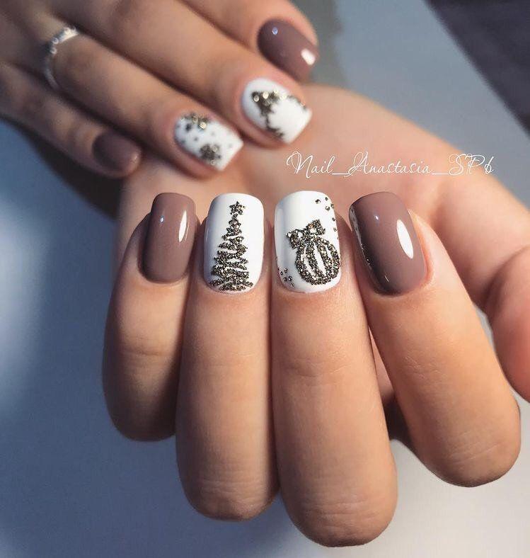 15 Diseños navideños para decorar tus uñas  – Boda fotos
