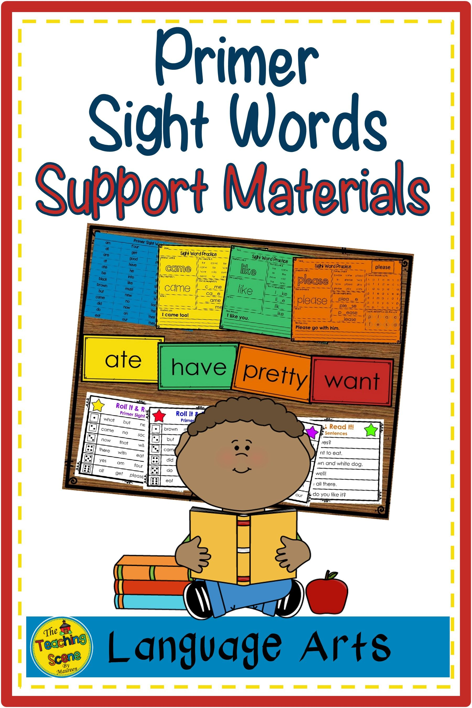 Primer Sight Word Lists Flashcards Worksheets Amp Roll It