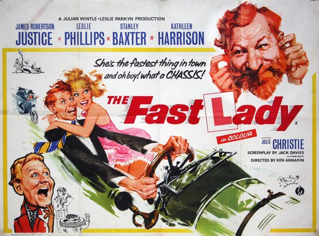 Publicity poster for The Fast Lady, 1962 (With images) | 1960s ...