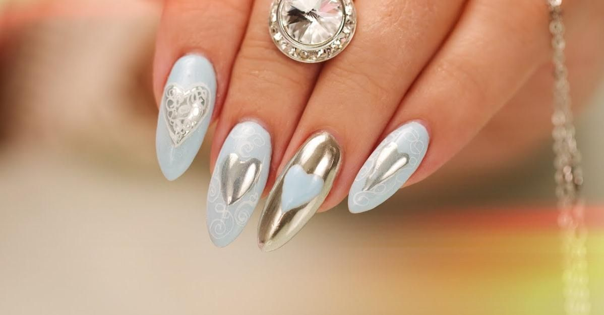 Chrome Hearts and Calligraphy Nail Art Search Nail Career Education ...