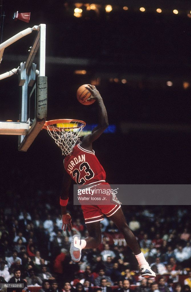 taille 40 a1548 d3bc7 Chicago Bulls Michael Jordan (23) in action, dunking during ...
