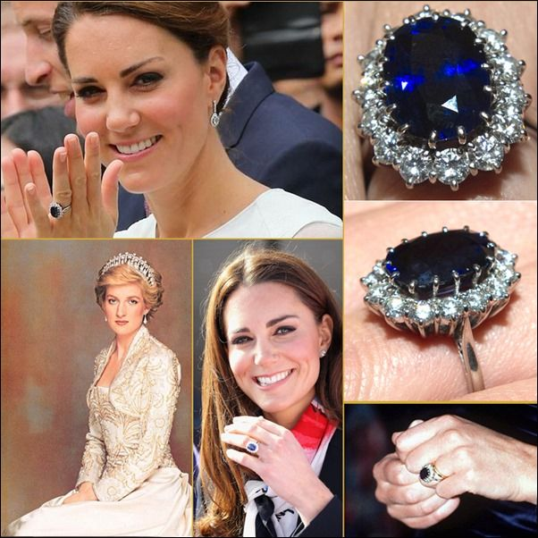Famous Colored Gemstone Engagement Rings Princess Diana Ring Princess Kate Kate Middleton Ring