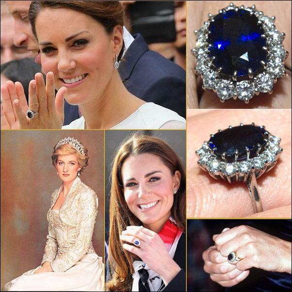 katemiddleton or you can say diana princess of wales engagement ring - Princess Kate Wedding Ring