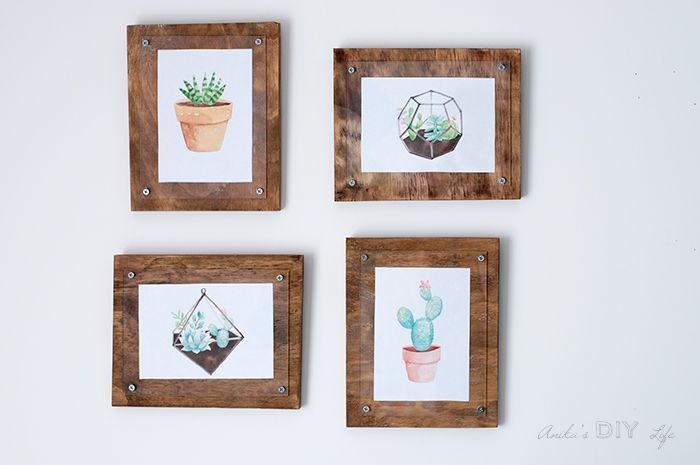 Easy Simple DIY photo frame with plywood and plexiglass