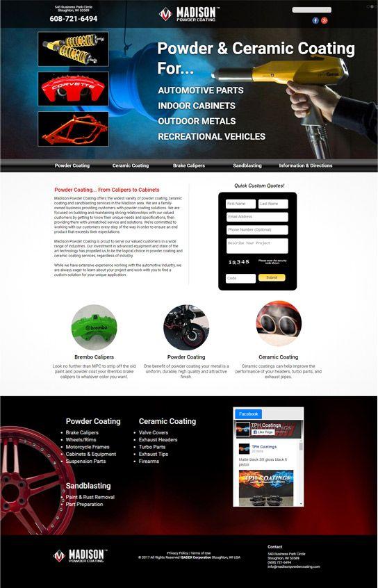 Madison Powder Coating Web Design Agency Web Design Website Design